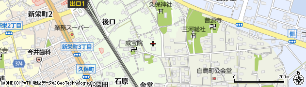 愛知県豊川市久保町(上見堂)周辺の地図