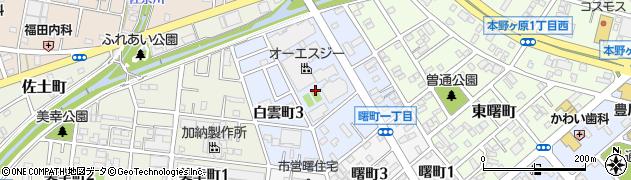 愛知県豊川市白雲町周辺の地図