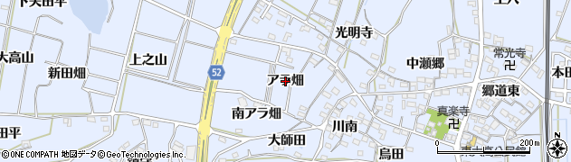 愛知県武豊町(知多郡)東大高(アラ畑)周辺の地図