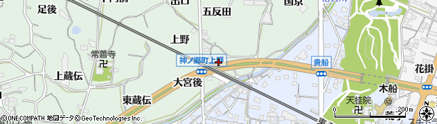 愛知県蒲郡市神ノ郷町(大宮後)周辺の地図