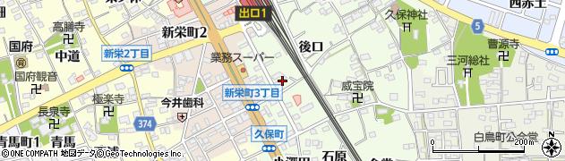 愛知県豊川市久保町(棒田)周辺の地図