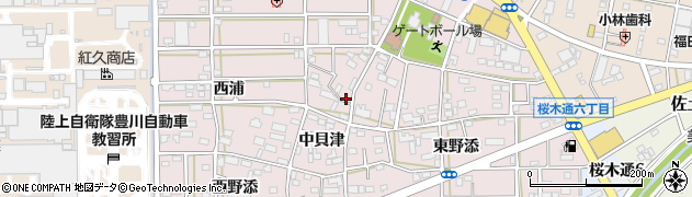 愛知県豊川市本野町周辺の地図