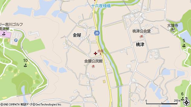 〒673-0711 兵庫県三木市細川町金屋の地図