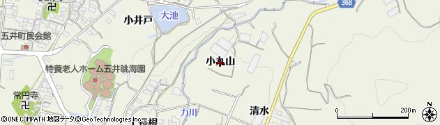 愛知県蒲郡市豊岡町(小丸山)周辺の地図
