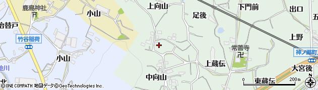 愛知県蒲郡市神ノ郷町(上向山)周辺の地図