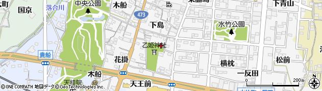 愛知県蒲郡市水竹町(下島)周辺の地図