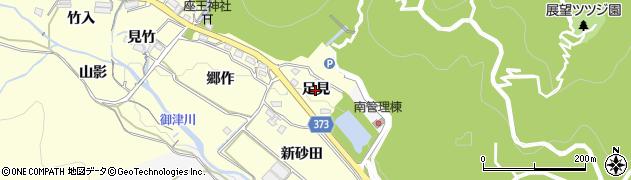 愛知県豊川市御津町金野(足見)周辺の地図