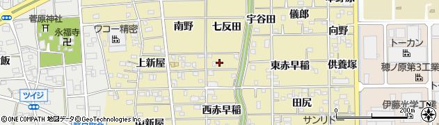 愛知県豊川市市田町(七反田)周辺の地図