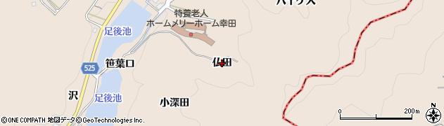 愛知県幸田町(額田郡)深溝(仏田)周辺の地図