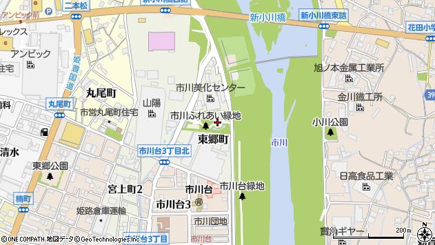 〒670-0821 兵庫県姫路市東郷町の地図