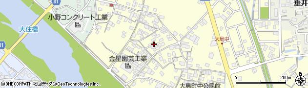 兵庫県小野市大島町周辺の地図
