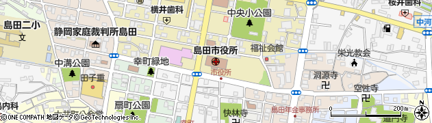 静岡県島田市周辺の地図