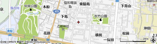 愛知県蒲郡市水竹町(半海道)周辺の地図