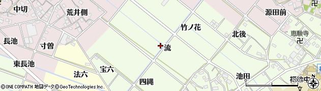 愛知県西尾市上道目記町(流)周辺の地図