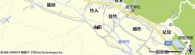 愛知県豊川市御津町金野(山影)周辺の地図