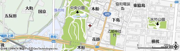 愛知県蒲郡市水竹町(木船)周辺の地図