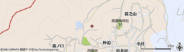 愛知県蒲郡市西迫町(貧乏山)周辺の地図