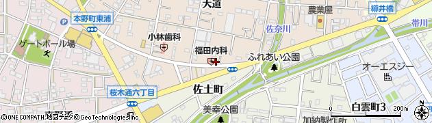 愛知県豊川市三蔵子町(大道)周辺の地図