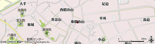 愛知県西尾市吉良町駮馬(東鍛治山)周辺の地図