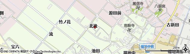 愛知県西尾市上道目記町(北後)周辺の地図