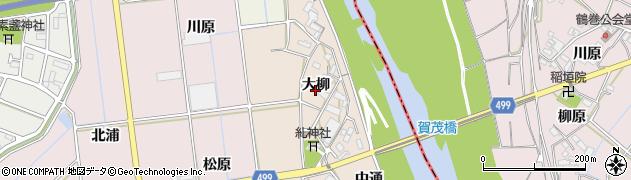 愛知県豊川市向河原町(大柳)周辺の地図