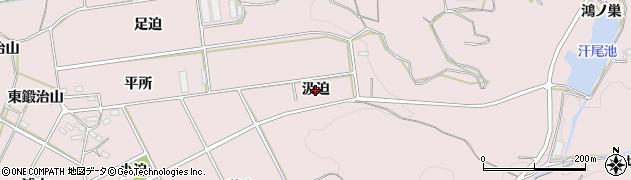 愛知県西尾市吉良町駮馬(汲迫)周辺の地図