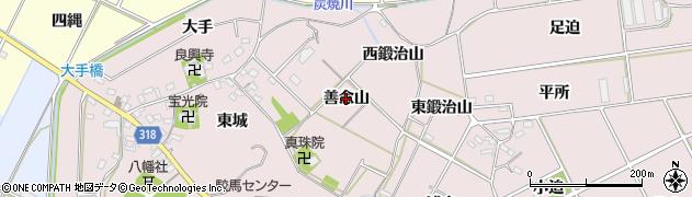 愛知県西尾市吉良町駮馬(善念山)周辺の地図