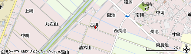 愛知県西尾市針曽根町(古川)周辺の地図