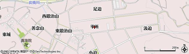 愛知県西尾市吉良町駮馬(平所)周辺の地図