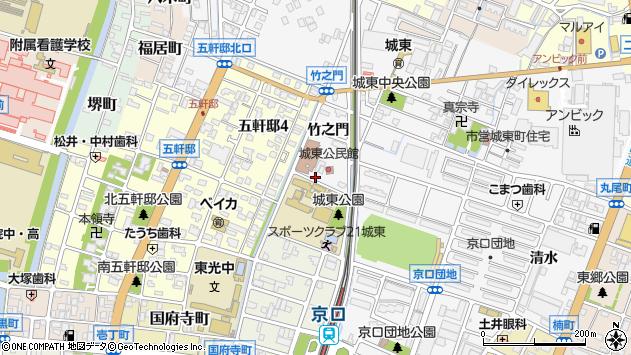 〒670-0848 兵庫県姫路市城東町竹之門の地図