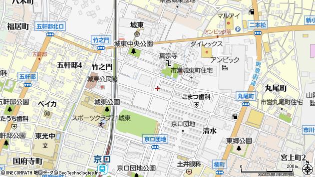 〒670-0842 兵庫県姫路市城東町毘沙門の地図