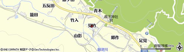 愛知県豊川市御津町金野(見竹)周辺の地図