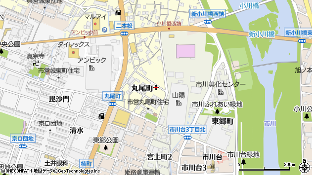 〒670-0827 兵庫県姫路市丸尾町の地図