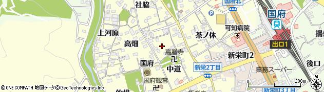 愛知県豊川市国府町(鍛治ケ谷)周辺の地図