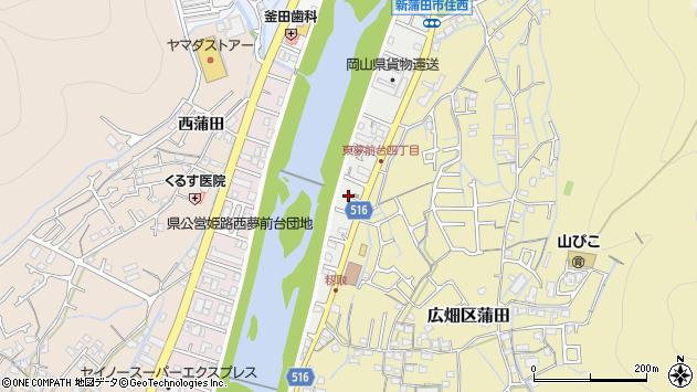 〒671-1101 兵庫県姫路市広畑区東夢前台の地図