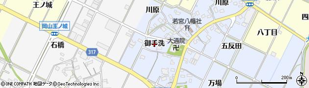 愛知県西尾市吉良町寺嶋(御手洗)周辺の地図