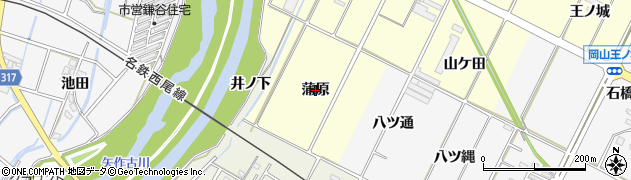 愛知県西尾市吉良町岡山(蒲原)周辺の地図