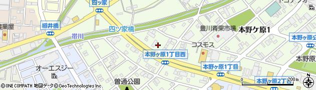 ブレス周辺の地図
