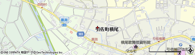 静岡県浜松市北区引佐町横尾周辺の地図