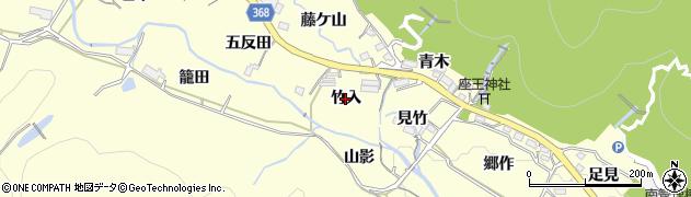 愛知県豊川市御津町金野(竹入)周辺の地図