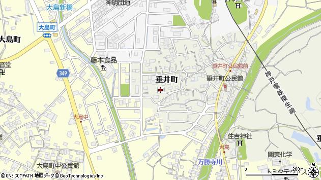 〒675-1333 兵庫県小野市垂井町の地図