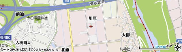 愛知県豊川市麻生田町(川原)周辺の地図