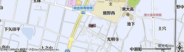 愛知県武豊町(知多郡)東大高(並松)周辺の地図