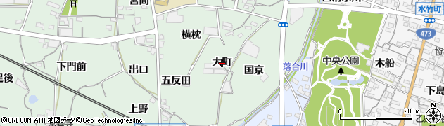 愛知県蒲郡市神ノ郷町(大町)周辺の地図