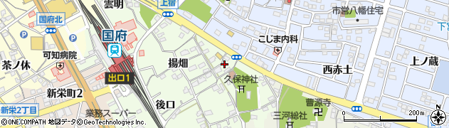 愛知県豊川市久保町(社地)周辺の地図