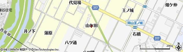 愛知県西尾市吉良町岡山(山ケ田)周辺の地図