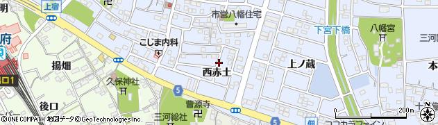愛知県豊川市八幡町(西赤土)周辺の地図