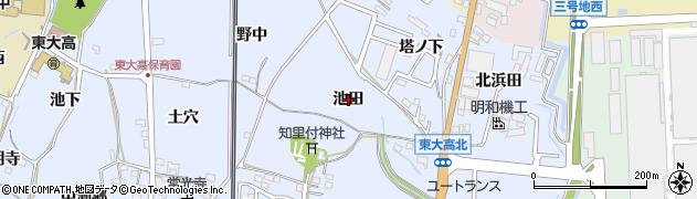 愛知県武豊町(知多郡)東大高(池田)周辺の地図