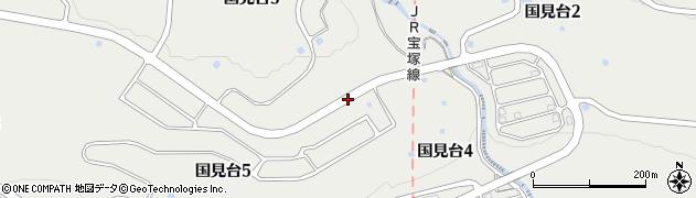 兵庫県西宮市国見台周辺の地図