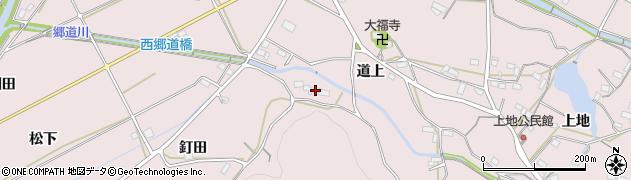 愛知県豊橋市石巻西川町(道上)周辺の地図